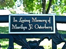 outdoor wooden signs made to order personalized plaques name memorial plaque on bench black font custom