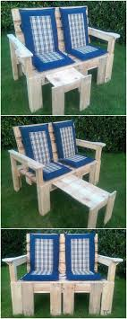 types wood pallets furniture. pallets bench with adjustable foot stool and backrest types wood furniture