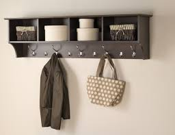 Wall Mounted Coat Rack With Cubbies Wallmounted entryway shelves are often mounted high on a wall to 7