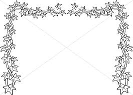 Black and White Ivy Page Topper | Nature Clipart