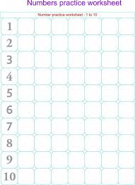 Kindergarten Writing Numbers Worksheet To Print | Kiddo Shelter ...