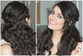 Hair Style Curly Hair half up half down hairstyle curly hair with fishtail braids so 2446 by wearticles.com