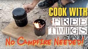 diy wood gas camping stove