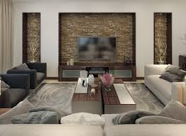 it will match the wall s scale as well as create greater visual interest in this living room oversized sections of slate were installed and uplit to