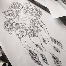 Dream Catcher Tattoo With Quote Best of Rose And Mandala Dream Catcher With Quote Tatuoinnit Pinterest