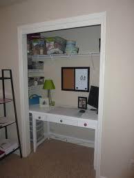Charming Desk In Closet Photo Decoration Inspiration