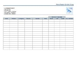 purchase order template microsoft word purchase order log templates word templates for free download