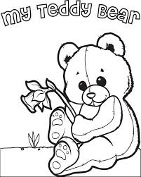Small Picture Free Printable Teddy Bear Coloring Page for Kids
