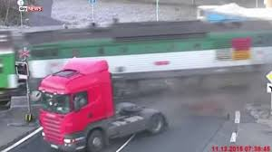 Footage Of Train Hitting Lorry