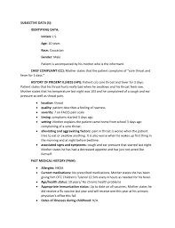 How To Write A Soap Note Pediatric Soap Note