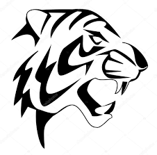 tiger face vector graphics