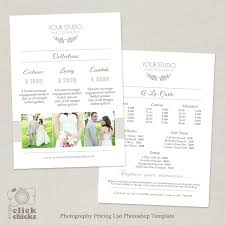 Photography Pricing Template Wedding Photography Pricing List Template 31