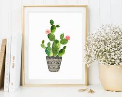 contemporary cactus wall art best interior zoom southwest abstract metal printables with orange flower framed kirkland s on cactus wall art framed with contemporary cactus wall art home decor artdom no framed print