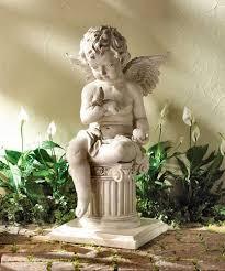 h 3 ft fiberstone angel statue rs