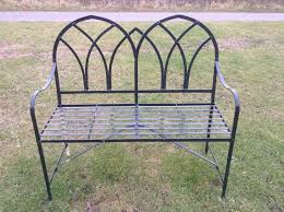 a reclaimed small iron work garden bench light refurb req d