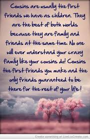Cousin Love Quotes Magnificent Best 48 Cousin Quotes Quotes And Humor