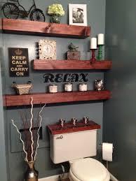 apartment bathroom decor. Modren Bathroom Easy Apartment Gray Wall Guest Bathroom Theme Blue Captivati Inside Decor