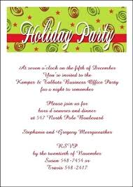 Christmas Party Invitation Wording With Office Holiday Party ...