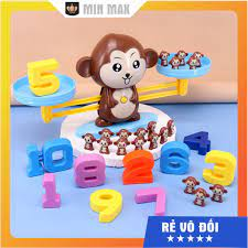 Đồ chơi Khỉ cân thăng bằng số học MONKEY Bộ Đồ Chơi Khỉ Toán Học Cân Bằng Thông  Minh Monkey Balance Cho Bé Học Số Đếm giá cạnh tranh