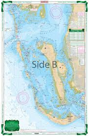 Pine Island Sound Depth Chart Charlotte Harbor And Pine Island Sound Large Print Navigation Chart 1e