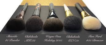 parison of wayne goss holiday 2016 brush to chikuhodo tom ford shiseido powder brushes