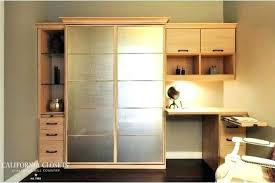 home office with murphy bed. Office Murphy Bed Desk Wall Combo Home Contemporary Small With