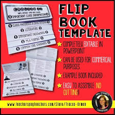 Editable Flipbook Template For Interactive Notebook