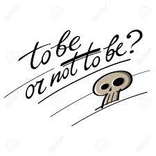 Array to be or not to be question hamlet shakespeare skull royalty free rh 123rf