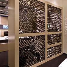 mdf decorative panel for partition walls perforated showroom fritz holter gesmbh