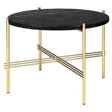 ts round coffee table small black marble brass