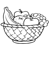 Small Picture Basket Of Fruit Coloring Page Free Download