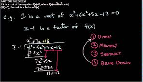 How To Factor A Cubic Solving Cubic Equations Using The Factor Theorem And Long Division