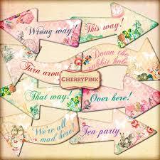 Alice In Wonderland Decorations Alice Arrows Alice In Wonderland Party Decoration Floral Arrows