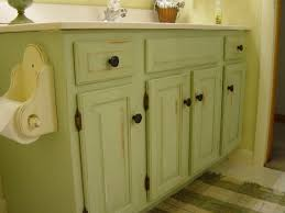 Distressed Bathroom Cabinet Repainted And Distressed Bathroom Vanity My Style Home Decor