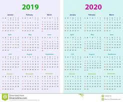2020 Calendar Editable 12 Months Calendar Design 2019 2020 Stock Vector