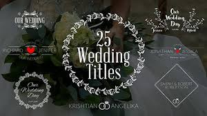 Wedding Title Wedding Titles 19761639 Project For After Effects