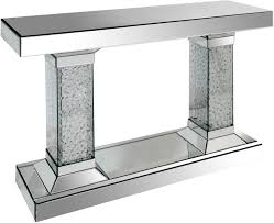mirror hall table. Twin Pillar Mirrored Console Mirror Hall Table L