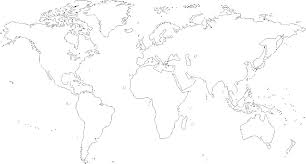 World Map Coloring Page With Countries Labeled North Pages For K