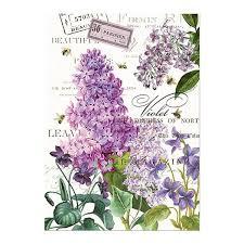<b>Michel Design Works Lilacs</b> & Violets Kitchen Towel