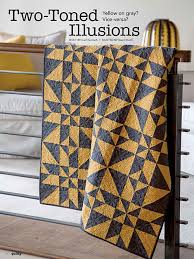 Two-Toned Illusions uses yellow and gray to make it into the Two ... & Two-Toned Illusions uses yellow and gray to make it into the Two Color  Quilts Adamdwight.com