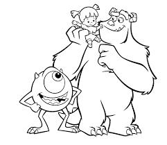 Kleurplaat Monsters En Co Pixar 955
