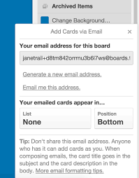 Creating An Email Creating Cards By Email Trello Help