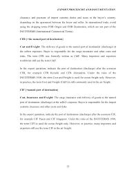 Export Contract Sample Classy Export Procedureanddocumentationprojectreporton