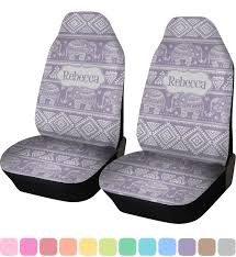 baby elephant car seat covers set of two personalized