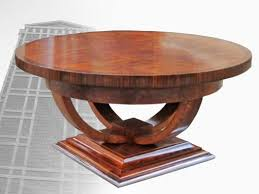 ... Coffee Table, Inspiring Brown Oval Ancient Wood Art Deco Coffee Table  Design Ideas As The ...