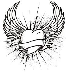 Small Picture Cool heart with wings coloring pages Enjoy Coloring Best