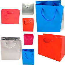 pack of 12 glossy gift bags with matching cord handles gifts whole bulk
