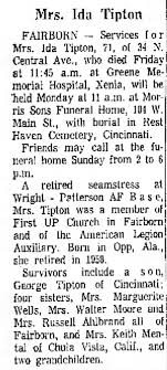Ida Fleming Tipson obit - Newspapers.com