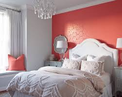 Bright Coral Peach Bedroom