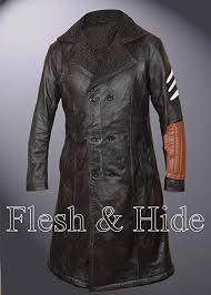 multicoloured pure color f h boy s genuine leather captain boomerang faux fur lined jai courtney coat
